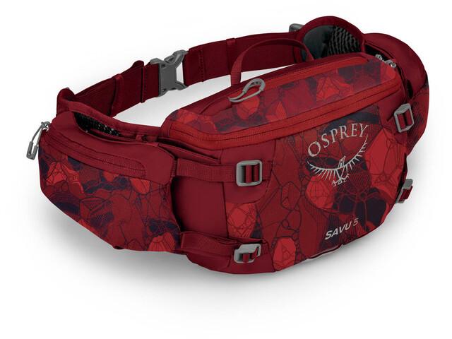 Osprey Savu 5 Waist Bag, claret red